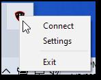 Right-click on Patriot VPN icon