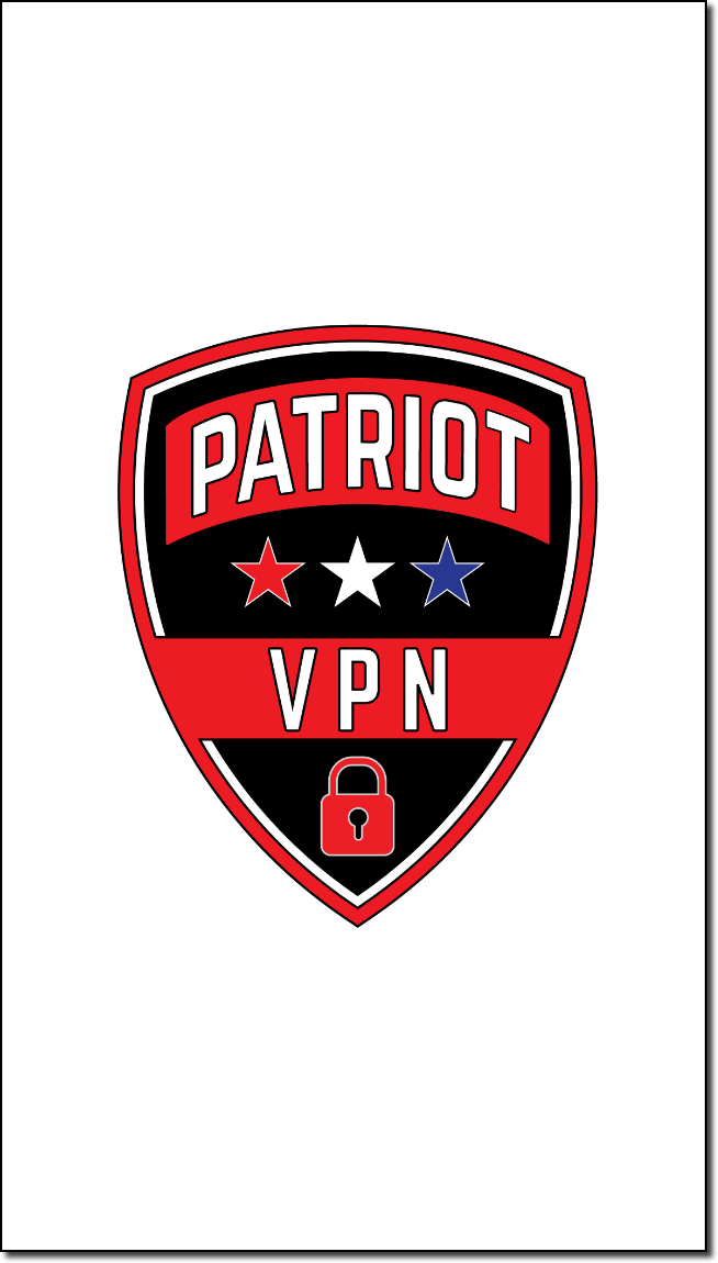 The Patriot VPN app splash screen shows while it is starting up